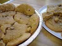 Cookies in pie tin