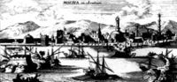 Painting of City of mocha 1692